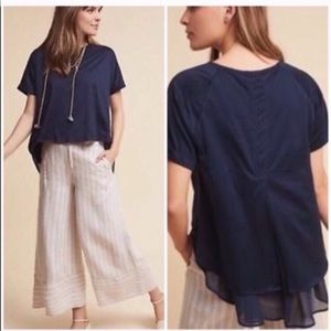 Anthropologie eri + ali chiffon layered swing tee